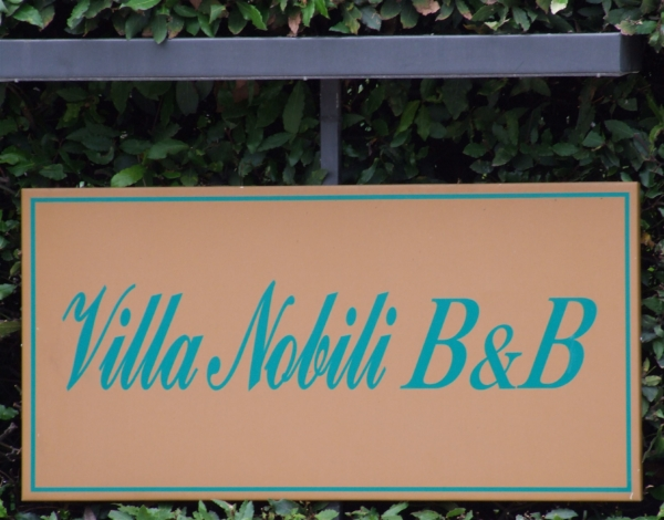 Bed and breakfast Villa Nobili insegna